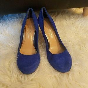 Jessica Simpson Calie royal blue suede heels